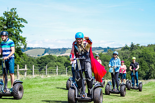 Superhero on a Leeds Castle Segway