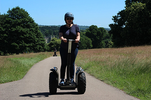 Lady enjoying a Leeds Castle Segway Tour